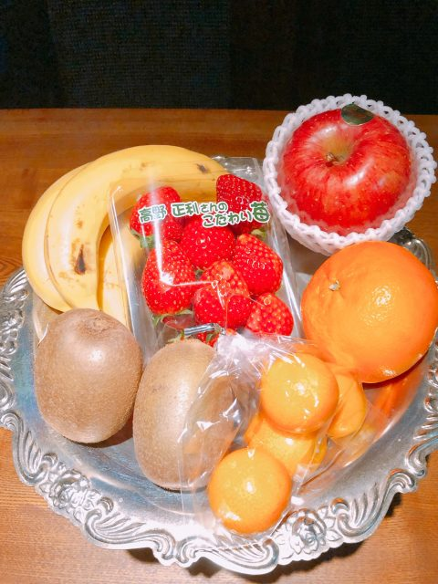 Fruits frais fraise et orange