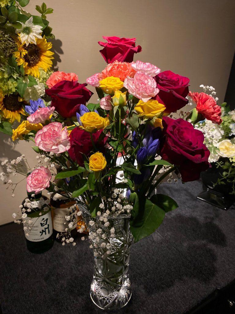 花束を頂戴致しました